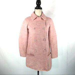 Zara Basic Coat Jacket Peacoat Womens XS